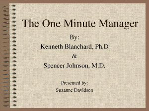The One Minute Manager Quote by MikeJenny