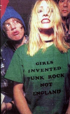 Kim Gordon of Sonic Youth wears a Girls Invented Punk Rock not England ...
