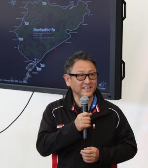 Akio Toyoda bei seiner Ansprache