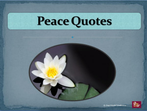 This PowerPoint presentation offers a variety of quotes about peace ...