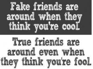 True friends vs fake friends quote