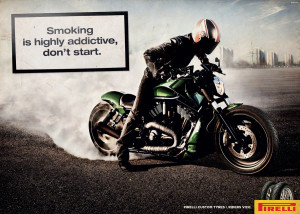Click for bigger version of Ad Pirelli Smoke Italy