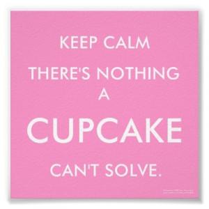 cupcake, cute, keep calm, pink, quotes