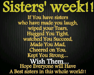 Sisters' Week!! If you have Sisters..
