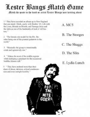 Lester Bangs Quotes. QuotesGram