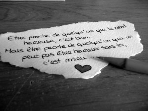 ... being close to someone who can not be happy without you, it's better