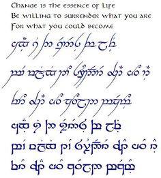 Elvish Script