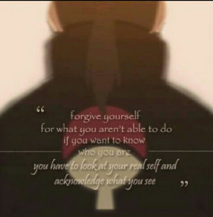 Naruto Itachi Quotes Itachi uchiha quote