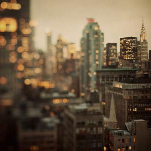 city lights, new york, photography