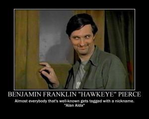 Benjamin Franklin Hawkeye Pierce by nightwolfgraphics