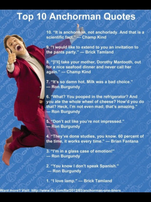 see the best of anchorman films anchorman top 10 quotes best of photos ...