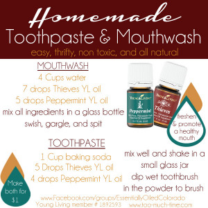 Homemade-all-natural-toothpaste-and-mouthwash-using-Young-Living ...