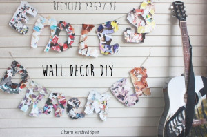 Recycled Magazine Wall Decor DIY