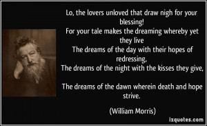 tale makes the dreaming whereby yet they live The dreams of the day ...