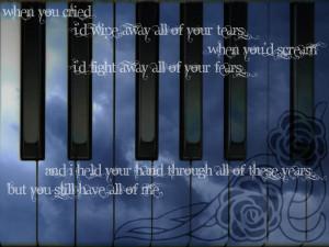 Sad Songs My Immortal Wallpaper