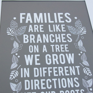 FAMILIES ARE LIKE BRANCHES ON A TREE' WALL ART
