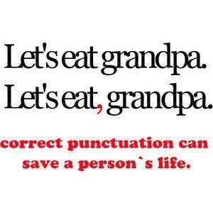 Correct punctuation
