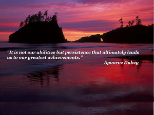 Persistence is Success