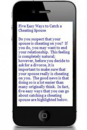 Catch a cheating spouse cell phone