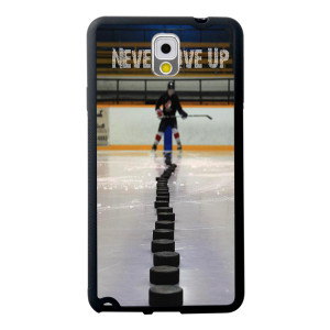 Hockey Never Give Up quote pattern fashion cell phone case&cover for ...