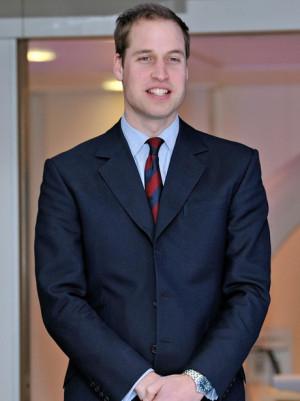 Prince William in suit and tie