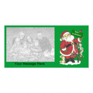 Baby's First Christmas Cute Santa Photo Card