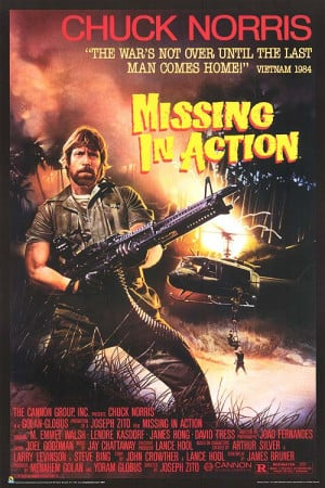 MISSING IN ACTION POSTER ]