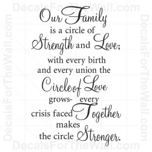 Quotes About Family Love By www.decalsforthewall.com