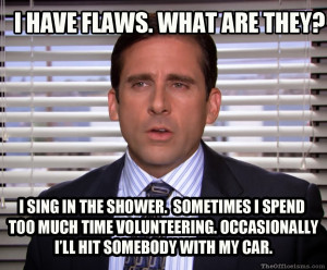 the flaws of michael scott meme superstitious little stitious michael