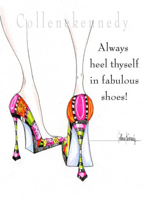 Illustrated high heel shoe print with funny shoe by VanityGallery, $8 ...