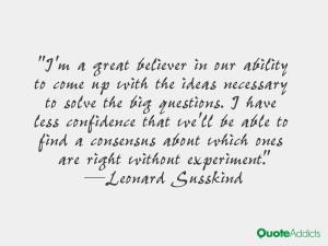 Leonard Susskind Quotes