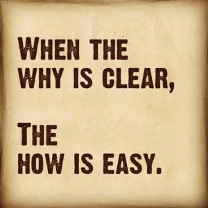 Start with your WHY...then when times get tough it's easier to push ...