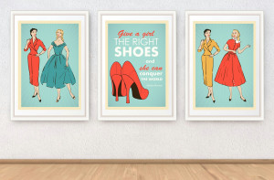 ... set, Marilyn Monroe quote poster print, Pin up girls illustrations, A4