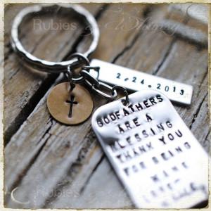 Godfather/Godmother Personalized Keychain, Gift for Godparents ...