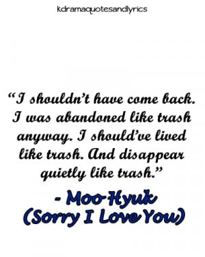 quotes #sorry I love you #kdrama