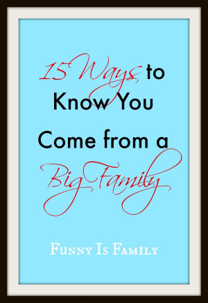 Is your family large? Are you a member of a growing empire? Here are ...