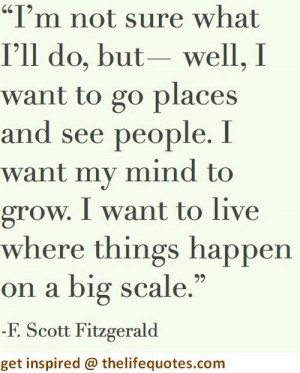 Scott Fitzgerald Quotes on Life and Travel