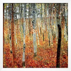 gustav klimt: forest of beech trees