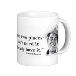 Ronald Reagan Quote on Socialism Classic White Coffee Mug