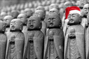 ... love/hate relationship with Buddhists during the Christmas season