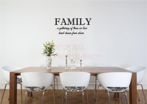 / Vinyl Wall Decals / Kitchen/Laundry/Bathroom / Family a gathering ...