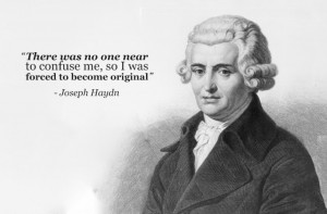 joseph haydn forced to become original