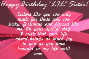 birthday my little happy birthday to lovely sister birthday wishes pin ...