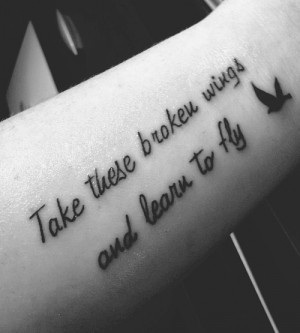 Inspirational Quote Forearm Tattoo