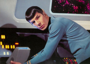 Mr Spock from the TV Series 'Star Trek']