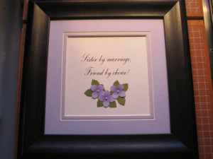 Framed quote for your Sister-in-law - 9x9 -