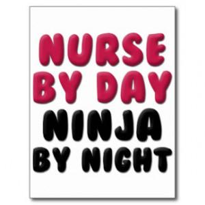 Nurse Ninja Cute Saying Postcard