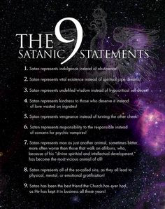 ... plaque satan bible satan statement satanic statements satanic rituals