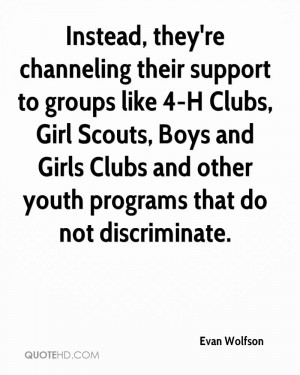 Instead, they're channeling their support to groups like 4-H Clubs ...
