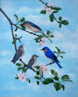 Just let your muse soar and fly high with the Bluebird Of Happiness ...